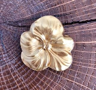 Broche Pensée dorée Evesome -  Evesome Gold Thinking Brooch