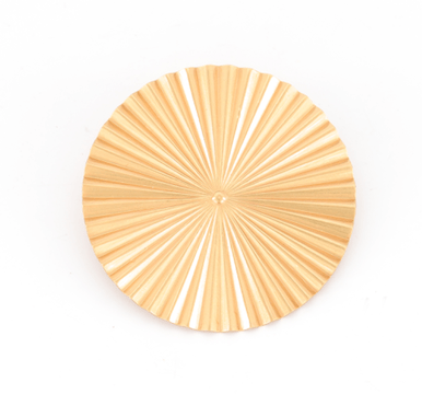 Broche Ronde dorée Evesome - Evesome Golden Round Brooch