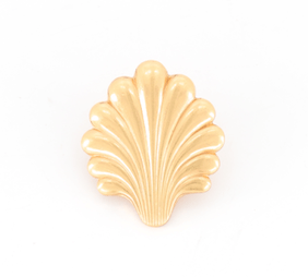 Broche Coquille Saint Jacques pleine dorée Evesome - Evesome Full Gilded Scallop Brooch