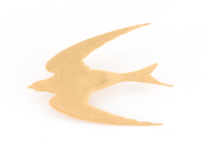 Broche Hirondelle dorée Evesome - Golden Swallow Brooch Evesome