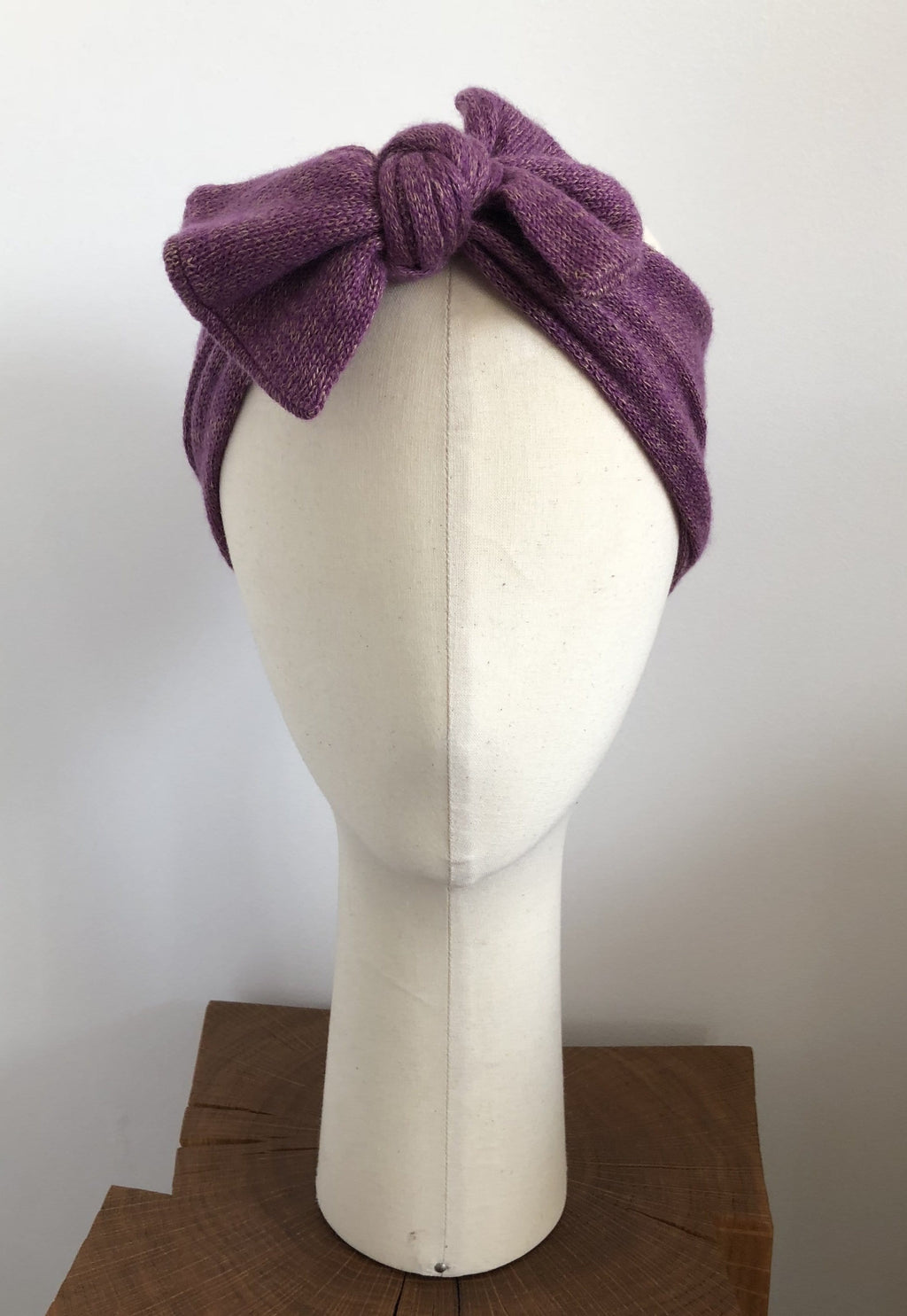 Headband avec noeud Evesome 58% cachemire 42% lin - Headband with bow Evesome 58% cashmere 42% linen