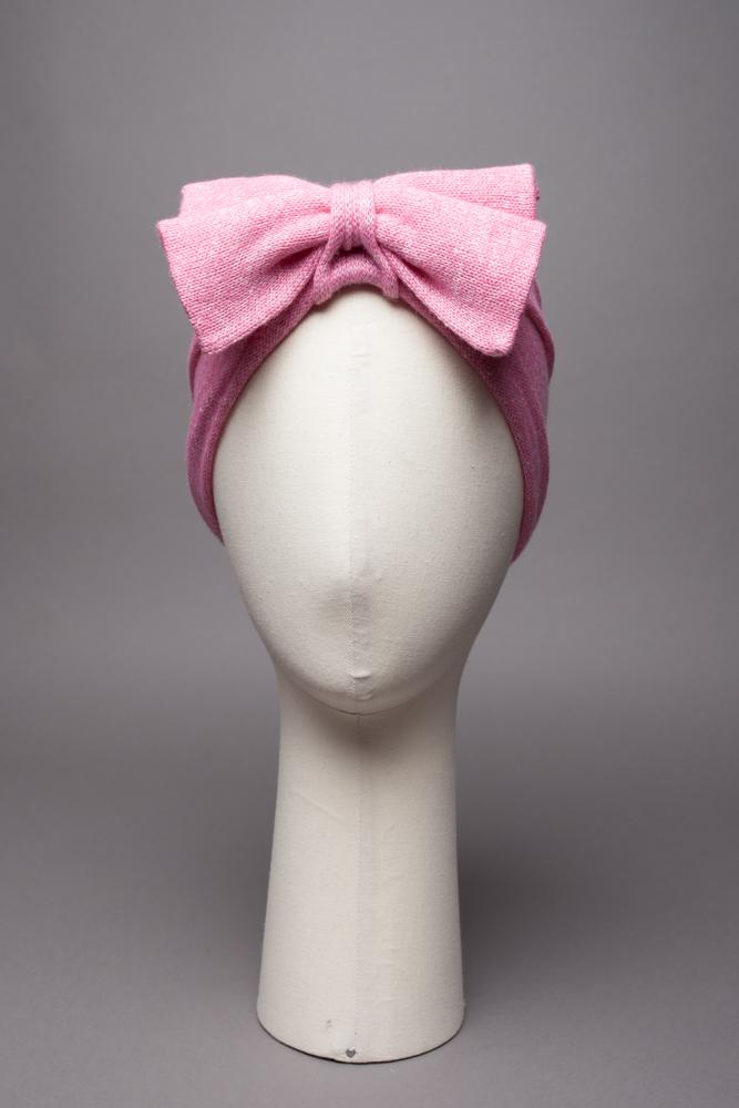 Headband avec double noeud Evesome 58% cachemire 42% lin - Headband with double bow Evesome 58% cashmere 42% linen