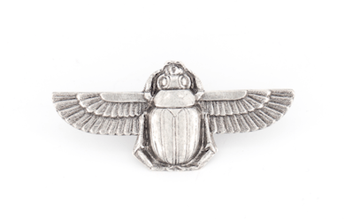 Broche Scarabée argentée Evesome - Silver Scarab Brooch Evesome