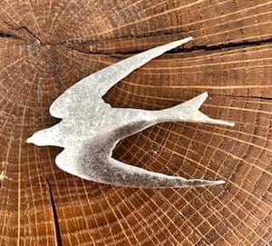 Broche Hirondelle argentée Evesome - Silver Swallow Brooch Evesome