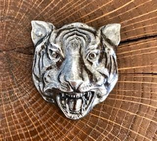 Broche Tigre argentée Evesome - Silver Tiger Brooch Evesome