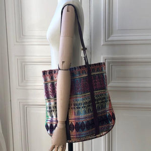 Sac Honorine en tweed et cuir