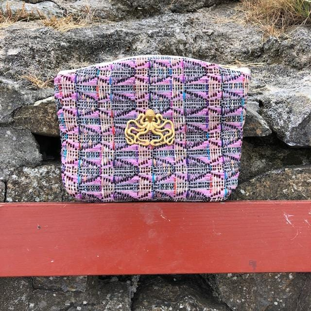 Pochette Armand Evesome en tweed d'été - Armand Evesome summer tweed clutch