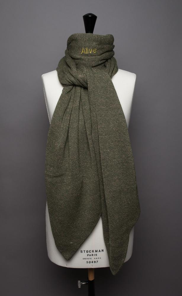 Maxi écharpe Evesome 58% cachemire 42% lin à bouts cravate - Evesome maxi scarf 58% cashmere 42% linen with tie ends