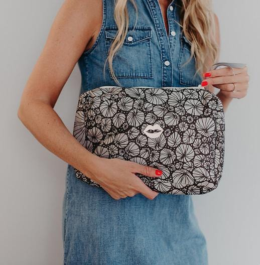 Evesome x Denim Liberty pochette Odile - Evesome x Liberty Odile Denim Liberty clutch