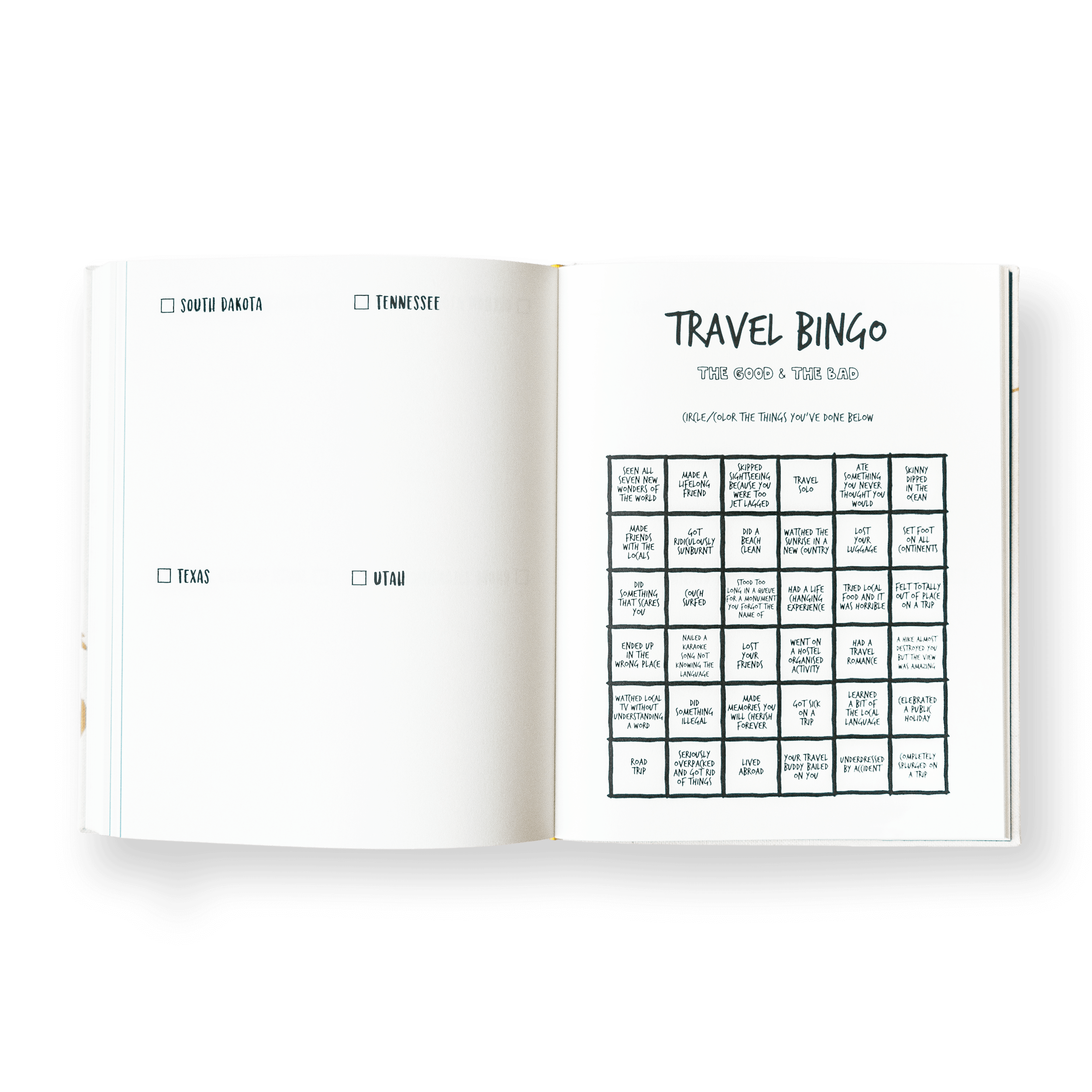 The Adventure Book Ultimate Traveler's Edition Travel Bingo United States of America USA Travel Journal