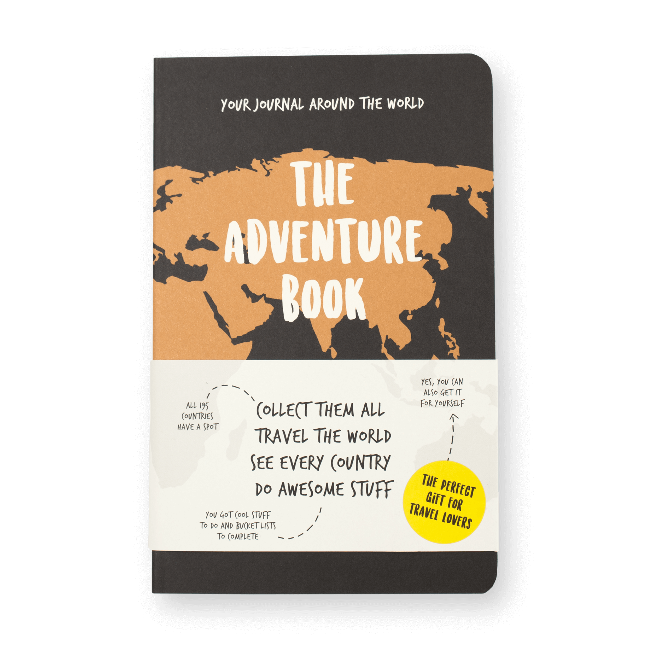 The Adventure Book front Travel Journal