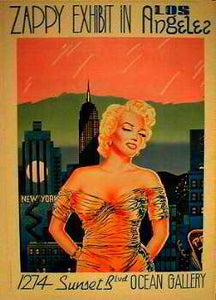 Art Gallery - Zappy Exhibit in Los Angeles, 1274 Sunset Blvd, Ocean Gallery Posters