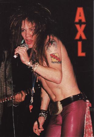 Axl Rose Post Cards