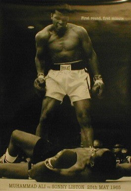 Cassius Clay vs Sonny Liston; First Round, First Minute. Giant Posters