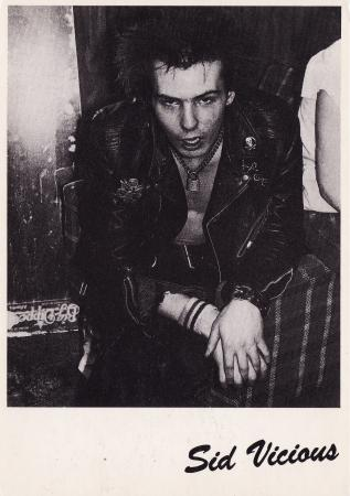 Sid Vicious Post Cards