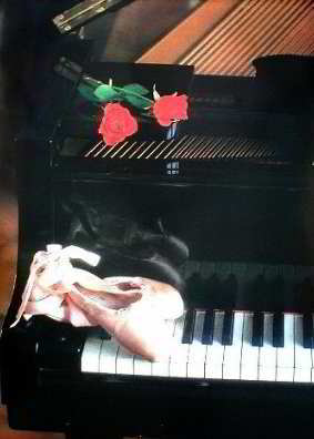 Piano with Roses Posters