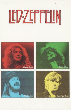Robert Plant, Jimmy Page, John Bonham, John Paul Jones Post Cards