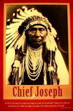 Indian Chief Joseph Posters