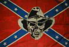 Rebel Flag Skull with Hat Poster Flags