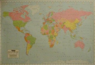 Giant Poster. Map of the World Giant Posters