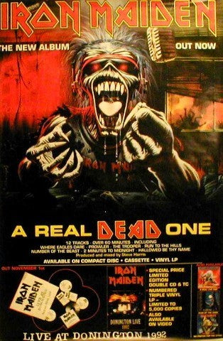 Giant Orig. promo Poster- A Real Dead One Giant Posters