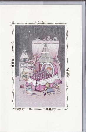 Baby in Crib Wish Cards