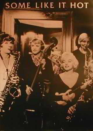 Some Like It Hot - Jack Lemmon ,Tony Curtis. Saxophone, Guitar Posters