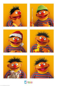 6 x Ernie.  Coyright: Sesame Workshop 2008 Posters