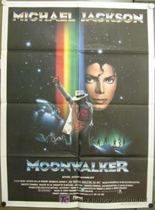 Moonwalker - The poster is folded because here the original movie posters from the movie Moonwalker Michael Jackson is concerned. This is a real collectors item that will never be printed. Giant Posters