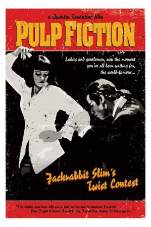 Tarantino Twist Contest. Uma Thurmann, John Travolta Posters