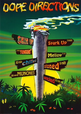 Skin Up. Spark Up. Tokin. Mellow. Chilled. Stoned. Wrecked. Publ. Pyramid - UK.  Posters