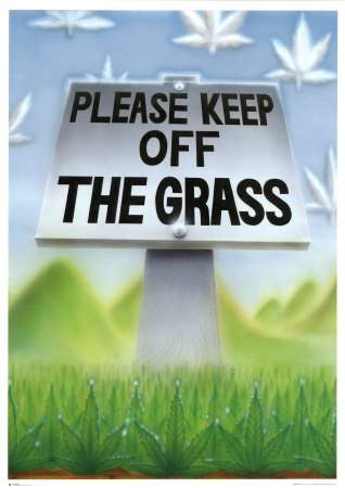 Please Keep off the Grass. Vintage 1996. Publ. GB Posters UK Posters