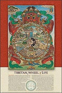 Tibetan Wheel of Life.Art Print Posters