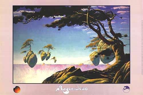 Floating Islands. Pomegranate 1993 Posters