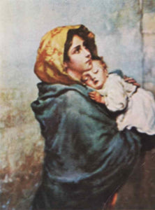Italian Virgin with Child Wish Cards