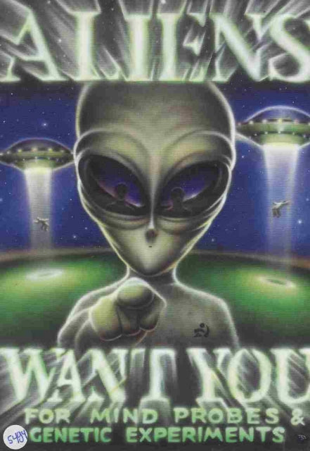 Want You for Mind Probes & Genetic Experiments Post Cards