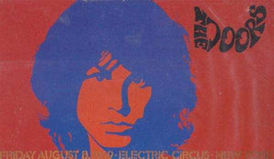 Sticker. Jim Morrison -Electric Circus - New York 1969 Post Cards