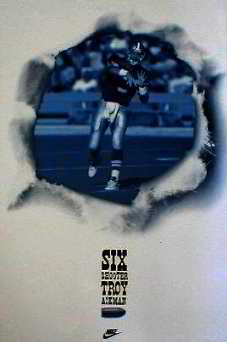 Nike. Troy Aikman - Six Shooter.  Team NFL 1993 Posters