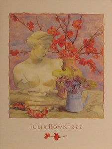 Japonica & Violets - Julia Rowntree; Art Print Posters