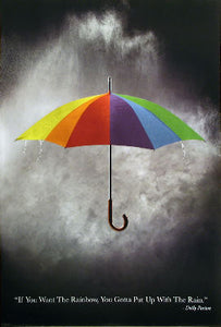 If You Want The Rainbow, You Gotta Put Up With The Rain;  Dolly Parton Posters