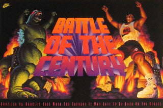 Vintage Org. Nike Poster. Battle of the Century Posters