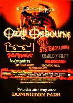 Promo Tourposter 25.05.2002 - System of a Down-Cradle of Filth-Slayer-Lost Prophets Posters