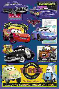 Cars - Walt Disney - Owen Wilson - Michael Keaton - Paul Newman - Bonnie Hunt - Larry The Cable Guy Posters
