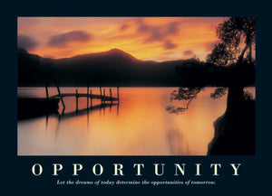 Let the Dreams of Today determine the Opportunities of Tomorrow Posters