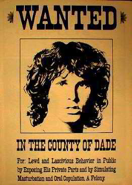 Jim Morrison Wanted,  In the County of Dade Posters