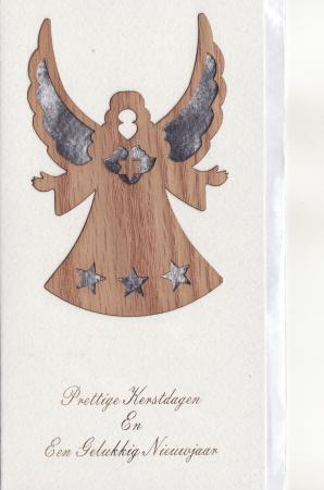 Angel  Wooden Carving Wish Cards