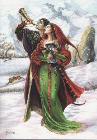 Celtic Midwinter Horn Wish Cards