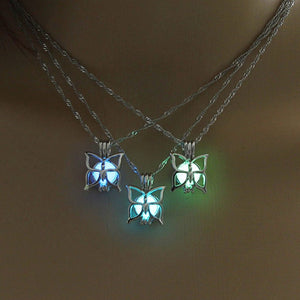 Cutest Butterfly Necklace Glow in the Dark
