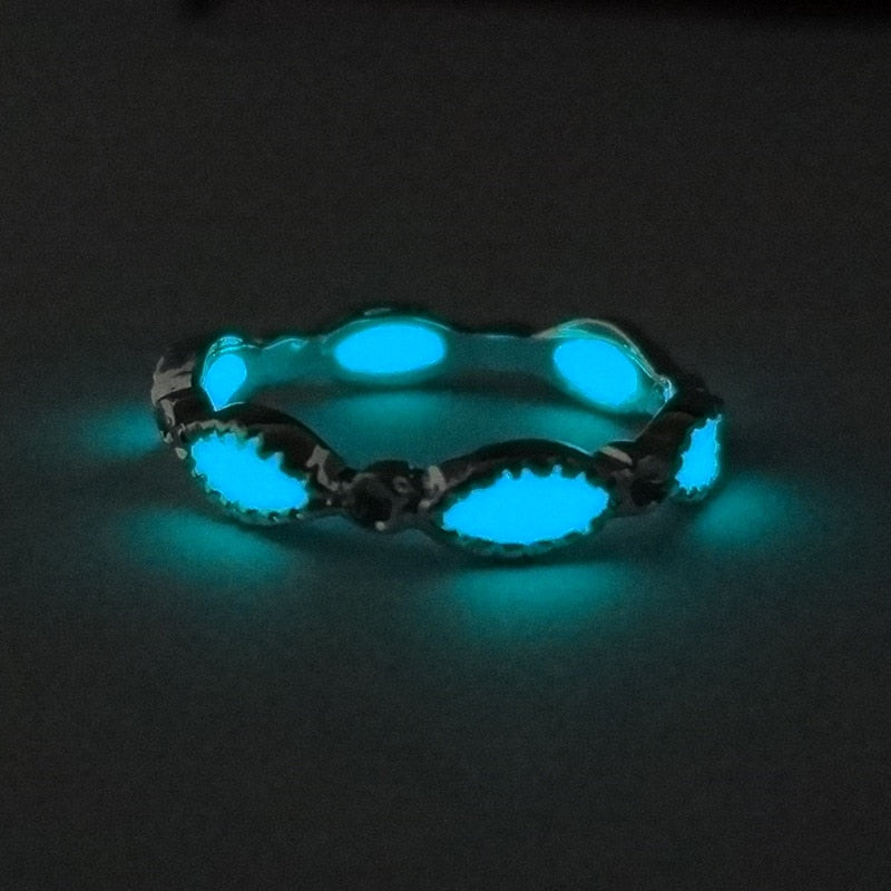 Glowing Stone Rings Party Jewelry