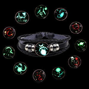 Luminous 12 Zodiac Sign Bracelet For Couple